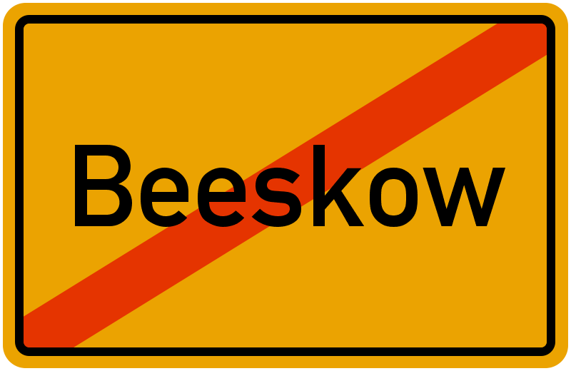 Ortsschild Beeskow