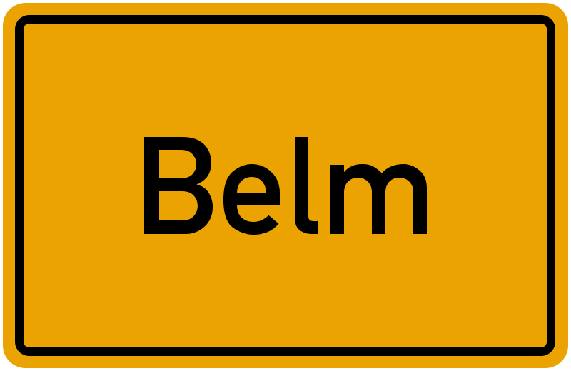 Ortsschild Belm
