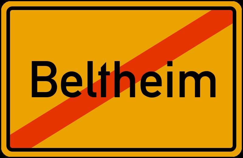 Ortsschild Beltheim
