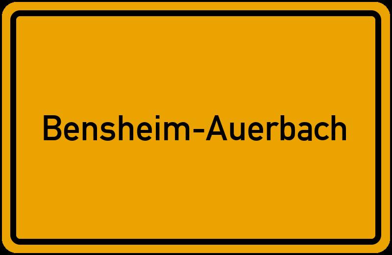 Ortsschild Bensheim Auerbach Kostenlos Download Drucken