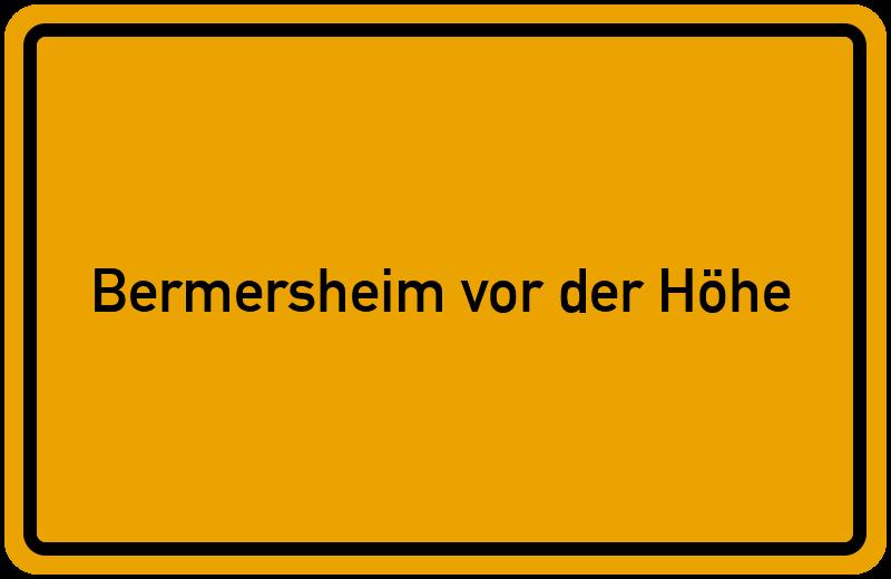 onlinestreet Branchenbuch für Bermersheim vor der Höhe
