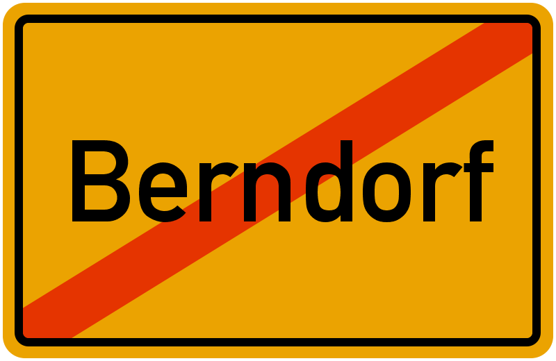 Ortsschild Berndorf