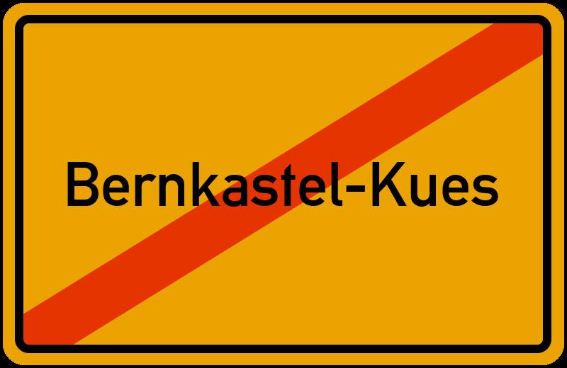 Ortsschild Bernkastel-Kues