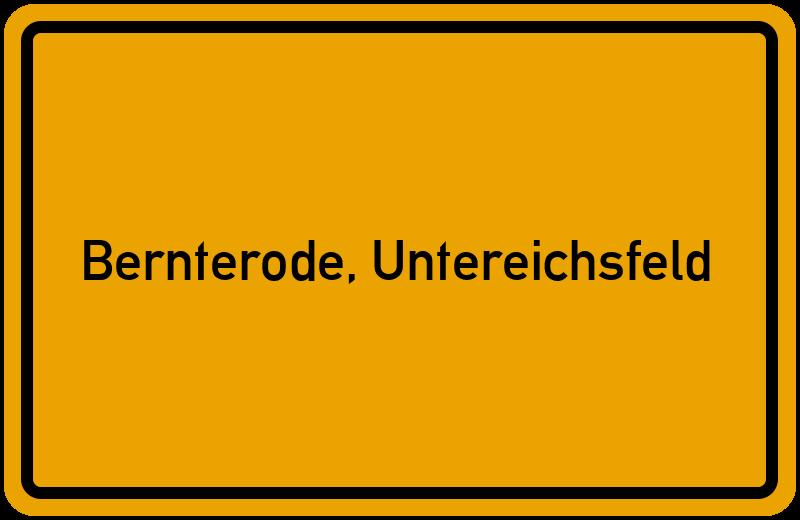 Ortsschild Bernterode, Untereichsfeld