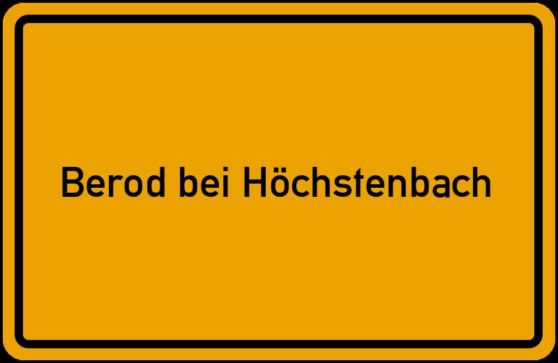 onlinestreet Branchenbuch für Berod bei Höchstenbach