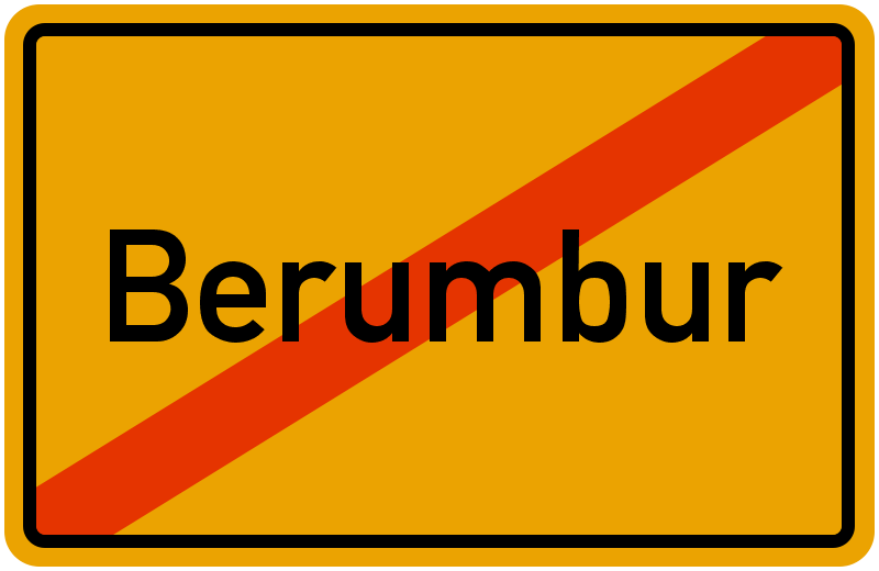 Ortsschild Berumbur