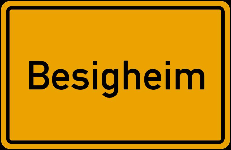 Ortsschild Besigheim