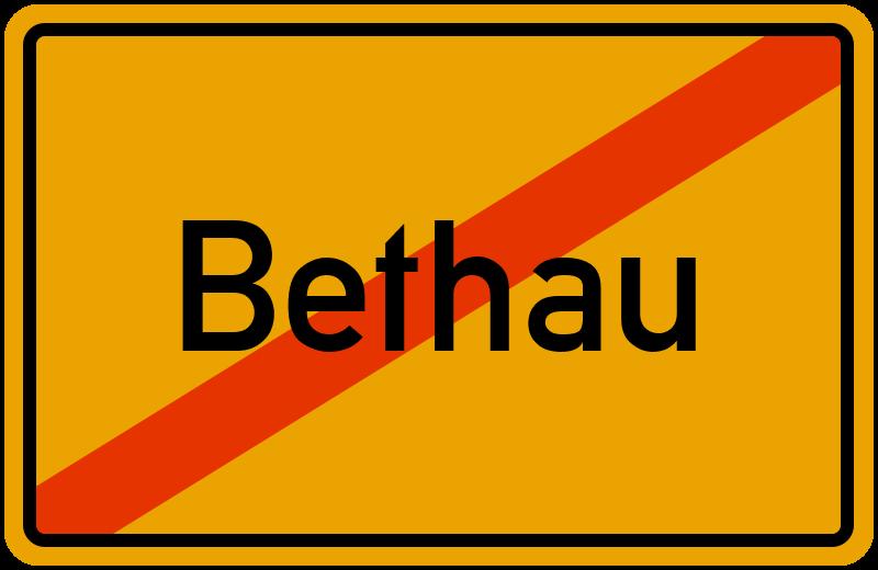 Ortsschild Bethau