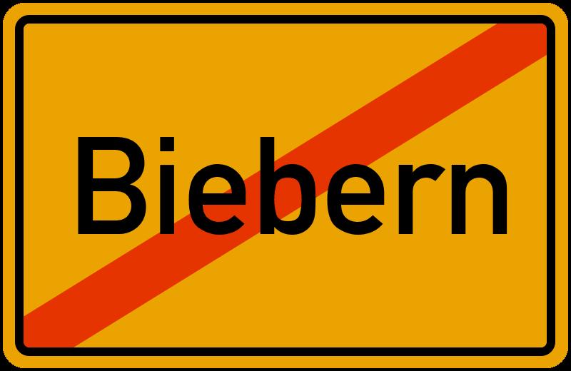 Ortsschild Biebern