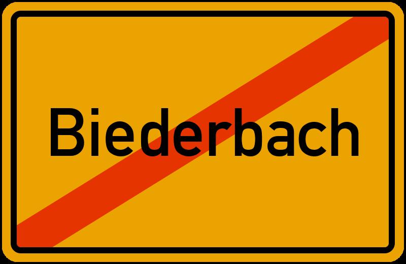 Ortsschild Biederbach