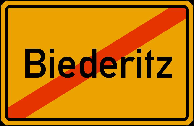 Ortsschild Biederitz