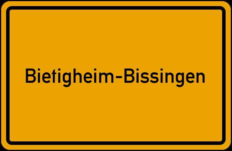 Ortsschild Bietigheim-Bissingen