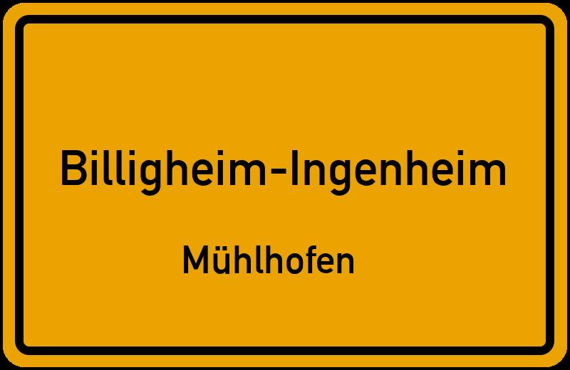 Ortsschild Billigheim-Ingenheim