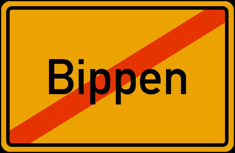 Ortsschild Bippen