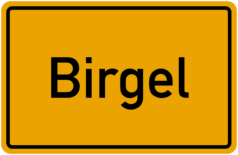 Ortsschild Birgel