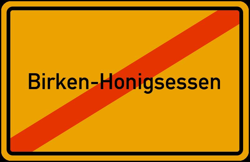 Ortsschild Birken-Honigsessen