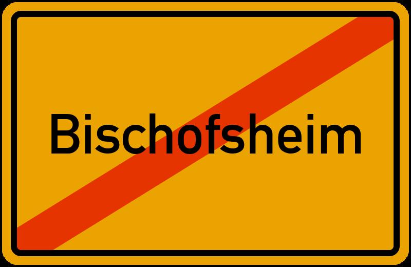 Ortsschild Bischofsheim