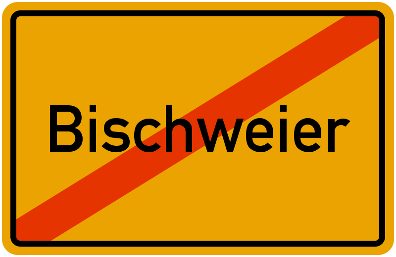 Ortsschild Bischweier