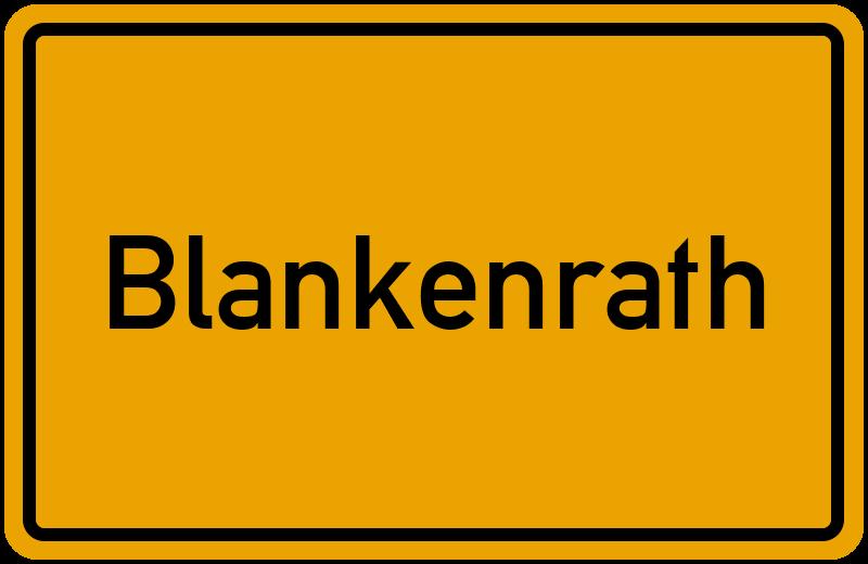 Ortsschild Blankenrath