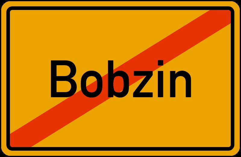 Ortsschild Bobzin
