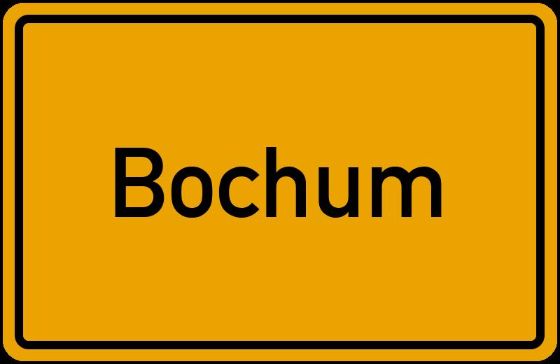 Ortsschild Bochum