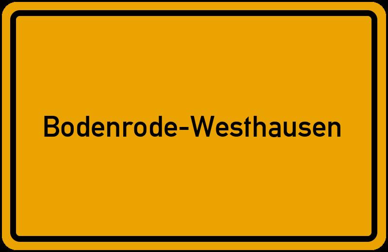 Ortsschild Bodenrode-Westhausen