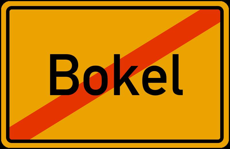 Ortsschild Bokel