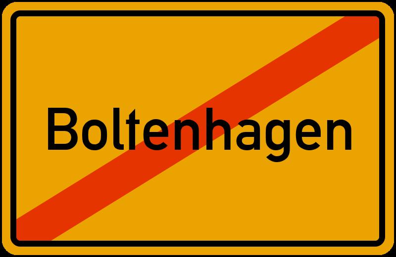 Ortsschild Boltenhagen