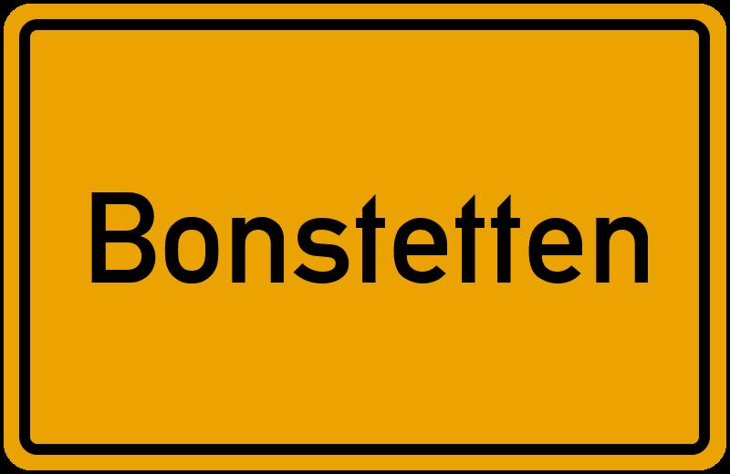 Ortsschild Bonstetten