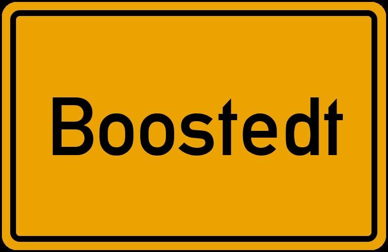 Ortsschild Boostedt