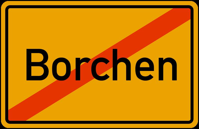 Ortsschild Borchen