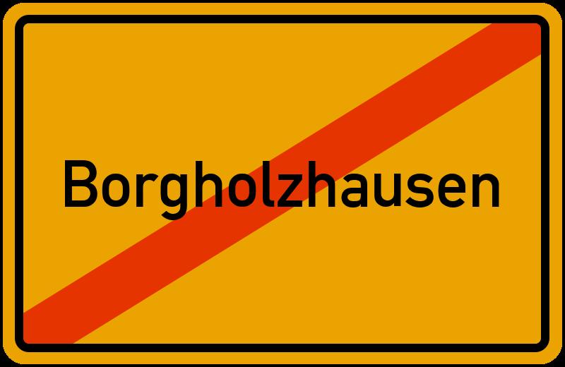 Ortsschild Borgholzhausen