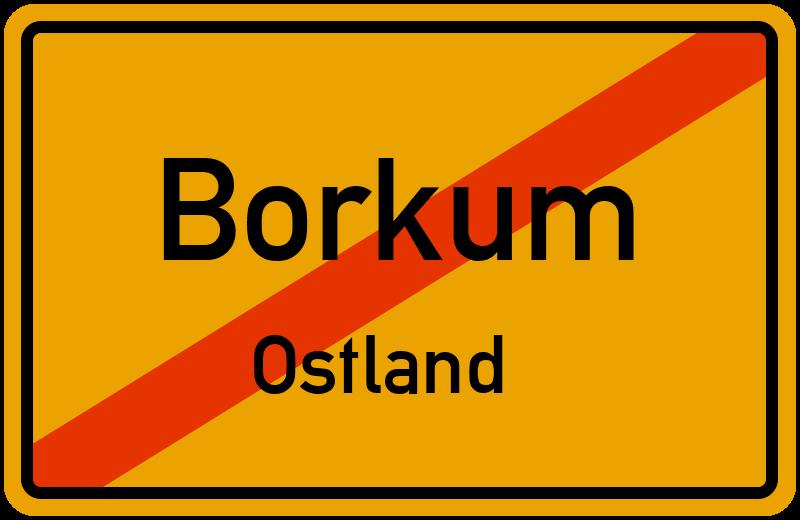 Borkum Karte Strassen.Ortsschild Borkum Ostland Kostenlos Download Drucken