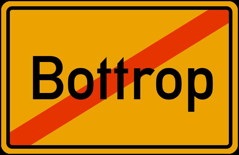 Ortsschild Bottrop