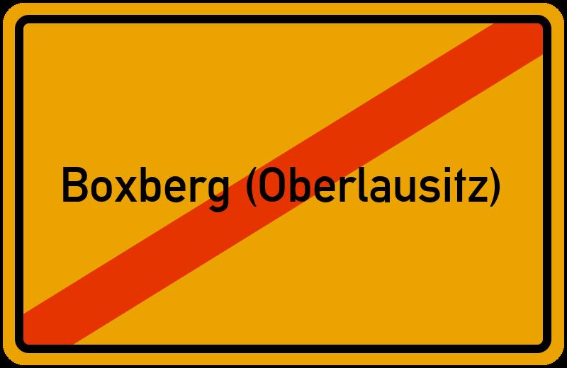 Ortsschild Boxberg (Oberlausitz)