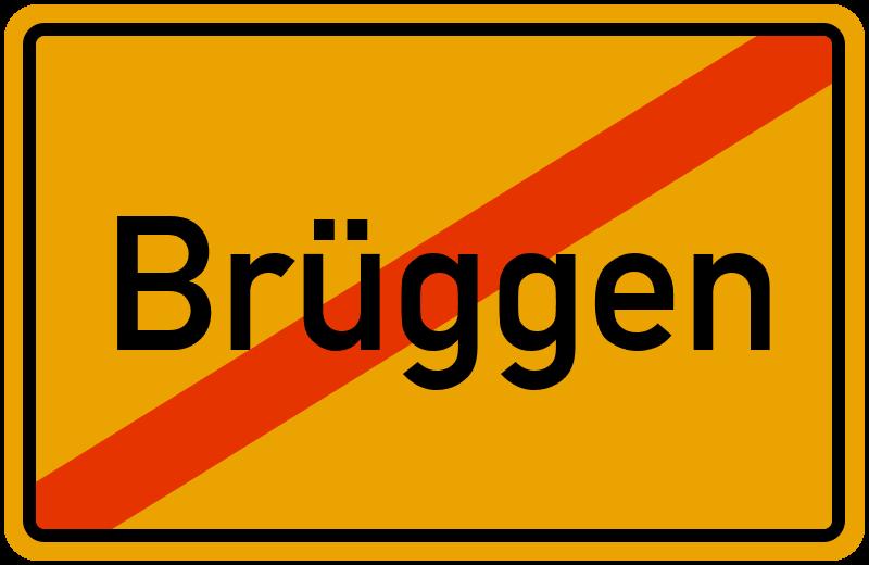 Ortsschild Brüggen