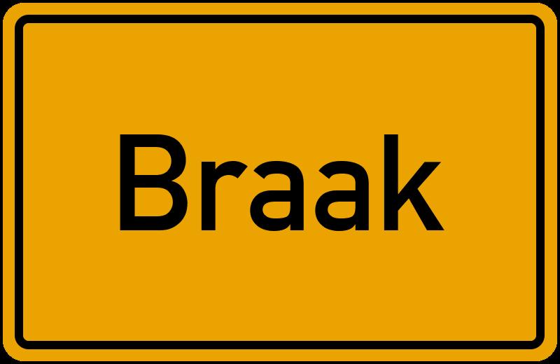 Ortsschild Braak