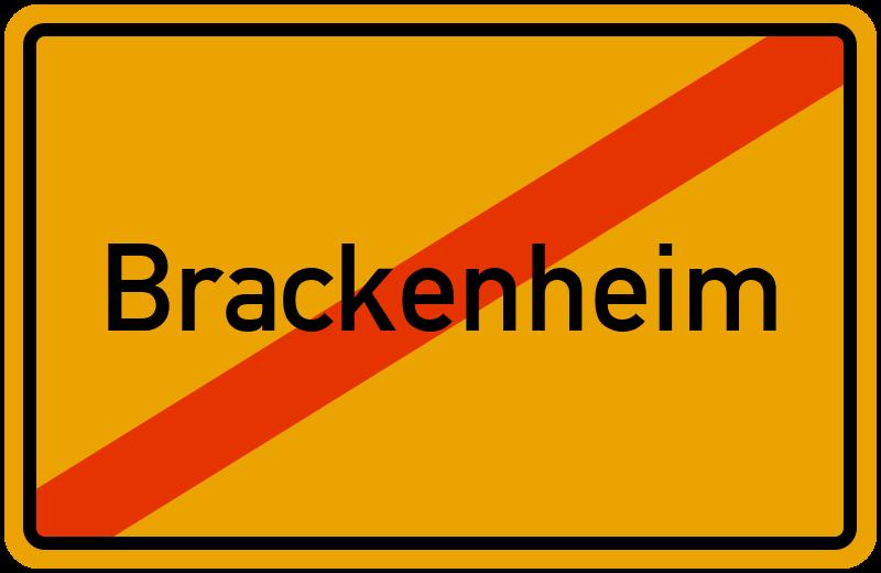 Ortsschild Brackenheim