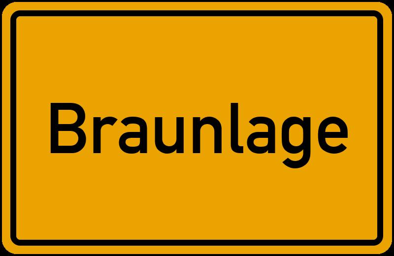Ortsschild Braunlage