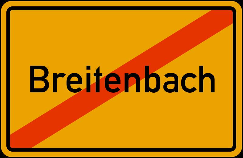 Ortsschild Breitenbach