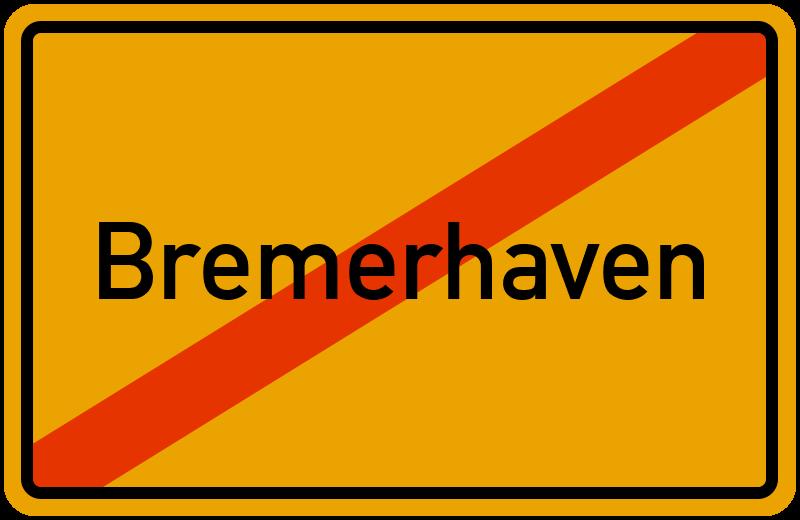 Ortsschild Bremerhaven