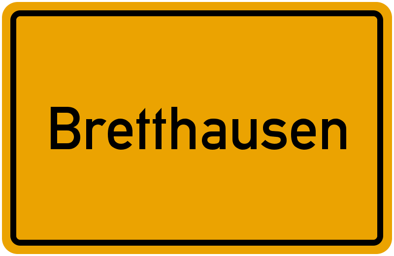 Ortsschild Bretthausen
