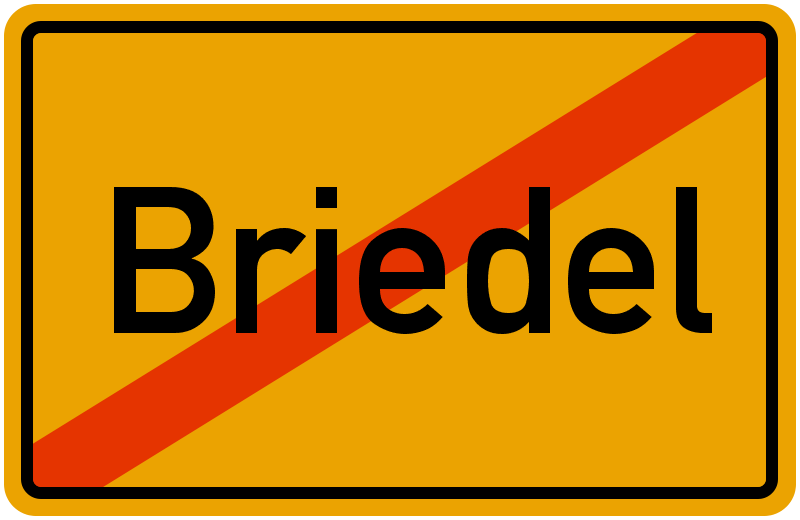 Ortsschild Briedel