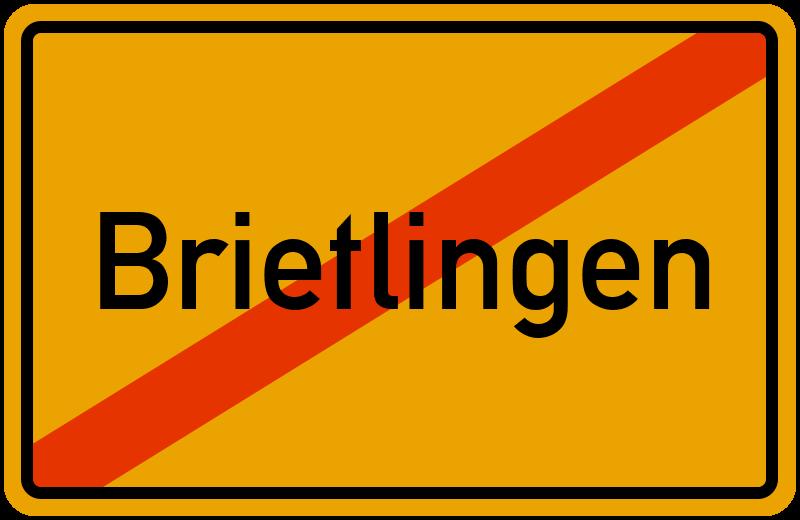 Ortsschild Brietlingen