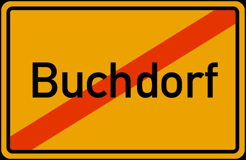 Ortsschild Buchdorf