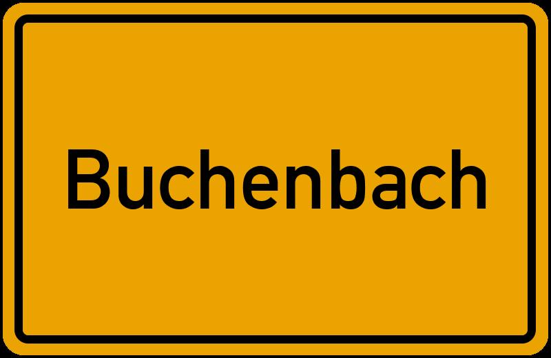 Ortsschild Buchenbach