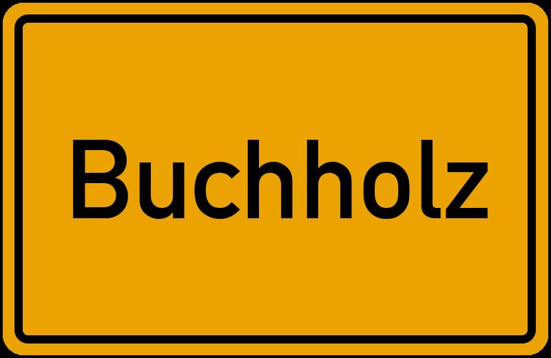 Ortsschild Buchholz