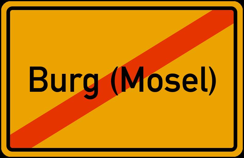 Ortsschild Burg (Mosel)
