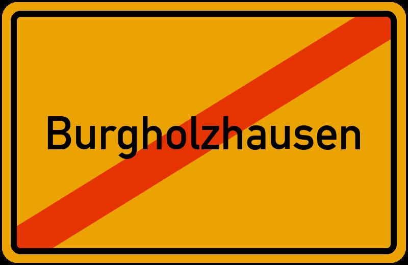 Ortsschild Burgholzhausen