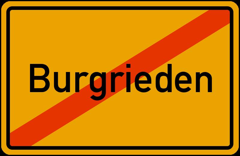 Ortsschild Burgrieden